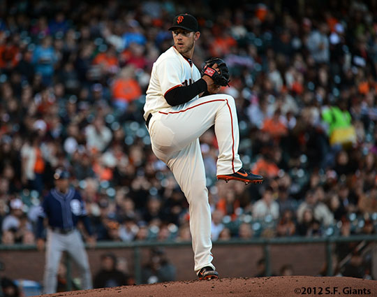 San Francisco Giants, S.F. Giants, 2012, photo, Madison Bumgarner