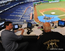 sf giants, san francisco giants, photo, 2012, dave flemming, jon miller