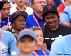 Melky Cabrera's grandmother & mother watch the Home Run Derby