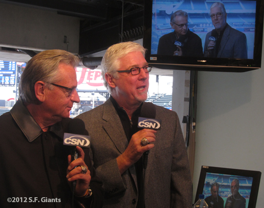 sf giants, san francisco giants, photo, 2012, mike krukow, duane kuiper