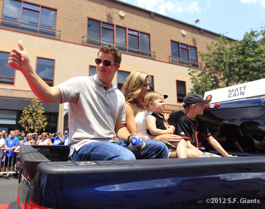 sf giants, san francisco giants, photo, 2012, all star game, red carpet parade, july 10, matt cain