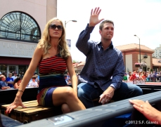 sf giants, san francisco giants, photo, 2012, all star game, red carpet parade, july 10, buster posey