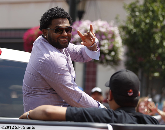sf giants, san francisco giants, photo, 2012, all star game, red carpet parade, july 10, pablo sandoval
