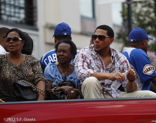 sf giants, san francisco giants, photo, 2012, all star game, red carpet parade, july 10, melky cabrera