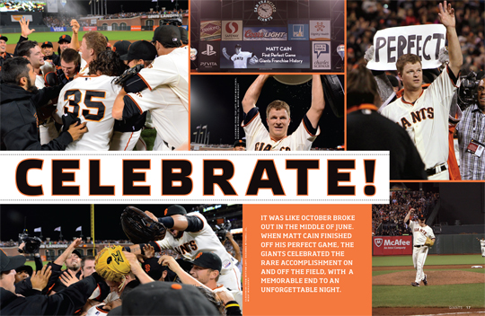 sf giants, san francisco giants, photo, 2012, june 13, matt cain, perfect game, team
