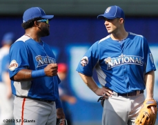 sf giants, san francisco giants, photo, 2012, all star game, july 9, work out, pablo sandoval, david wright