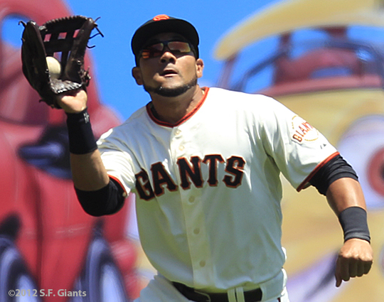sf giants, san francisco giants, photo, 2012, melky cabrera