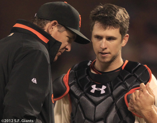 sf giants, san francisco giants, photo, 2012, buster posey, dave rightetti