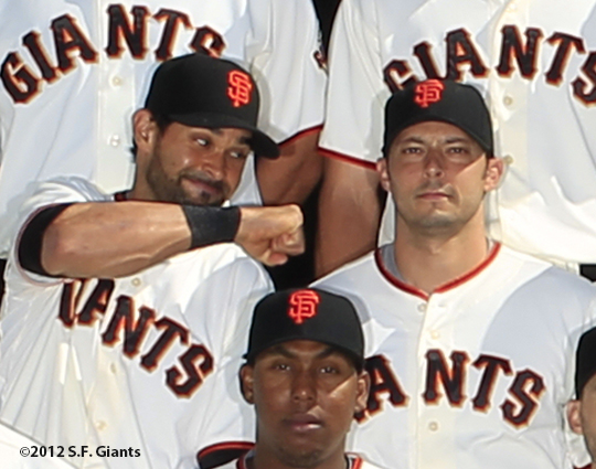 sf giants, san francisco giants, photo, 2012, angel pagan, clay hensley