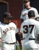 sf giants, san francisco giants, photo, 2012, hector sanchez, brandon belt, bambam meulens