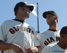 sf giants, san francisco giants, photo, 2012, madison bumgarner, jeremy affeldt