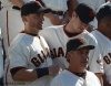 sf giants, san francisco giants, photo, 2012, marco scutaro, buster posey