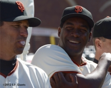 sf giants, san francisco giants, photo, 2012, bambam meulens, mark gardner