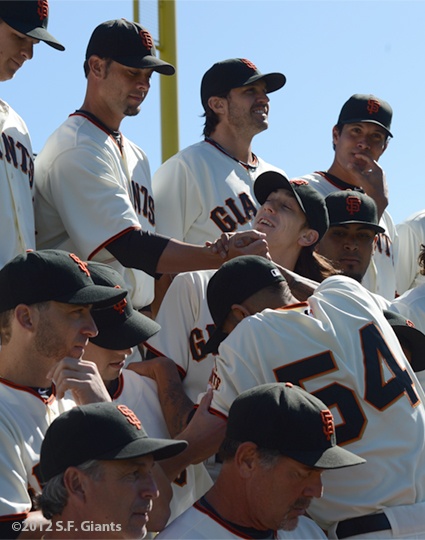 sf giants, san francisco giants, photo, 2012, sergio romo, tim lincecum, ryan vogelsong,