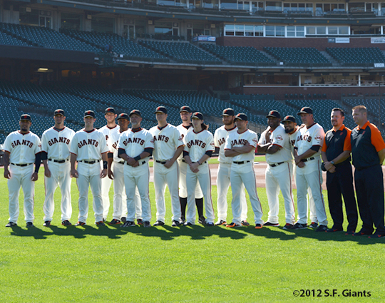 sf giants, san francisco giants, photo, 2012, san jose giatns, sj giants, hector sanchez, ryan vogelsong, buster posey, madison bumgarner, francisco peguero, bill hayes, matt cain, brandon belt, tim lincecum, brandon crawford, clay hensley, pablo sandoval, sergio romo, ron wotus, karl kochan, dave groeschner
