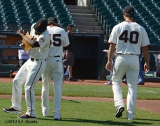 sf giants, san francisco giants, photo, 2012, sergio romo, tim lincecum, madison bumgarner