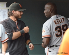 sf giants, san francisco giants, photo, 2012, brandon crawford & roberto kelly