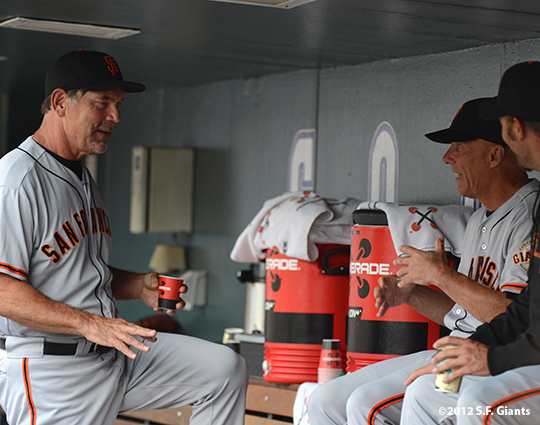 sf giants, san francisco giants, photo, 2012, bruce bochy, tim flannery