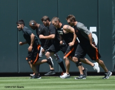 sf giants, san francisco giants, photo, 2012, team, sergio romo, santiago casilla, jeremy affeldt, shane loux, george kontos