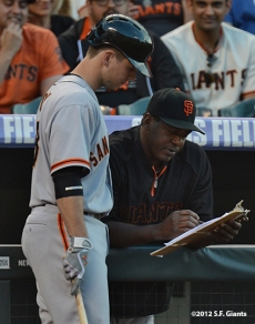 sf giants, san francisco giants, photo, 2012, buster posey, bam bam meulens