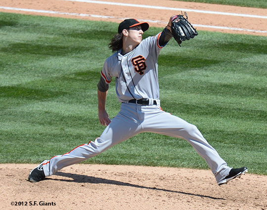 tim lincecum, sf gints, san francisco giants, photo, 2012