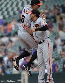 sf giants, san francisco giants, photo, 2012, hutner pence, gregor blanco