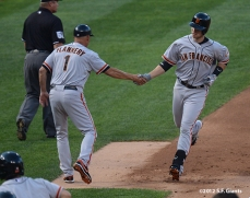 sf giants, san francisco giants, photo, 2012, tim flannery, buster posey