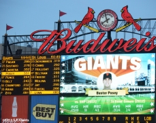 sf giants, san francisco giants, photo, 2012, scoreboard