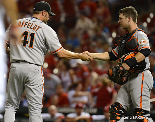 sf giants, san francisco giants, photo, 2012, jeremy affeldt, buster posey