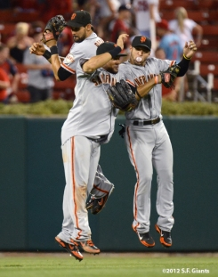 sf giants, san francisco giants, photo, 2012, angel pagan melky cabrera, gregor blanco