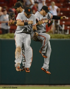 sf giants, san francisco giants, photo, 2012, gregor blanco, melky cabrera, angel pagan