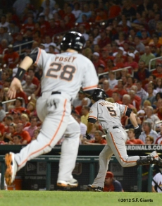 sf giants, san francisco giants, photo, 2012, buster posey, ryan theriot