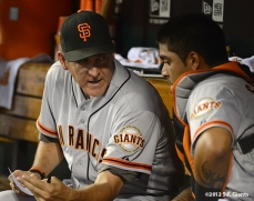 sf giants, san francisco giants, photo, 2012, dave righetti, hector sanchez