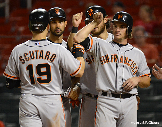 sf giants, san francisco giants, photo, 2012, grand slam, marco scutaro, angel pagan, brandon crawford, ryan theriot