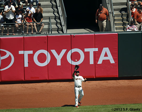 San Francisco Giants, S.F. Giants, photo, 2012, Melky Cabrera