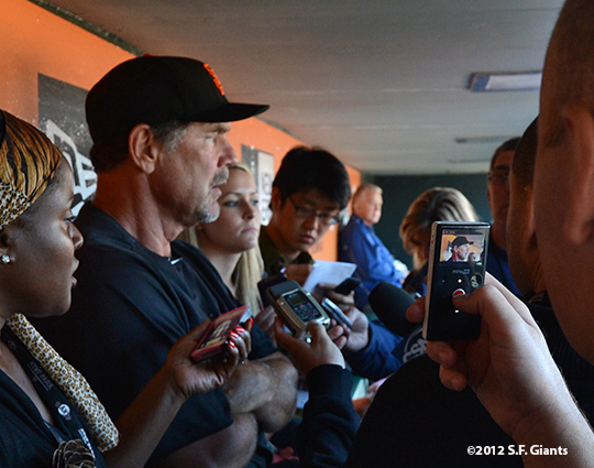 sf giants, san francisco giants, photo, 2012, bruce bochy, media