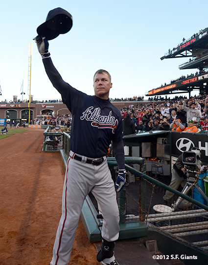 sf giants, san francisco giants, photo, 2012, chipper jones