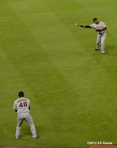 sf giants, san francisco giants, photo, 2012, pablo sandoval, joaquin arias