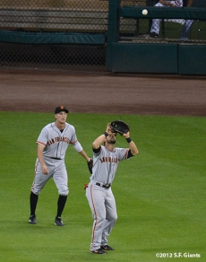 sf giants, san francisco giants, photo, 2012, hunter pence, angel pagan