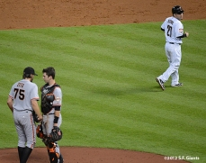sf giants, san francisco giants, photo, 2012, barry zito, buster posey, jose altuve