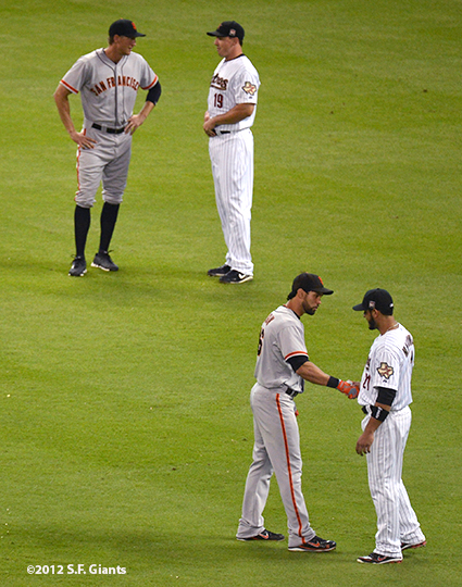 sf giants, san francisco giants, photo, 2012, angel pagan, hunter pence