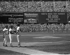 Ernie Riles hit the 10,000 home run in Franchise history