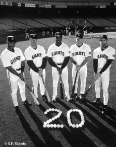 sf giants, san francisco giants, photo, 2012, view level, 1999 20 home run hitters