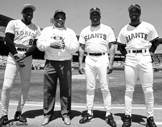 sf giants, san francisco giants, photo, 2012, view level, 300 club, bobby bonds, willie mays, barry bonds, andre dawson