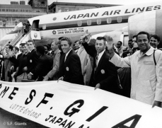 The SF Giants land in Japan