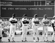 Chili Davis & Bob Brenly represented the Giants in the 1984 All Star Game