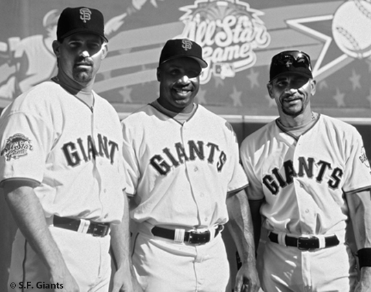 sf giants, san francisco giants, 2012, photo, view level timeline, 2002 all star game, robb nen, barry bonds, benito santiago