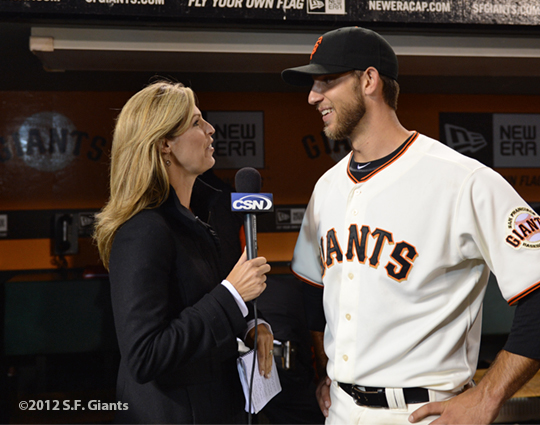 sf gaints, san francisco giants, photo, 2012, madison bumgarner, amy guiterrez