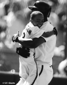 sf giants, san francisco giants, photo, 2012, view level, shawon dunston, shawon dunston jr
