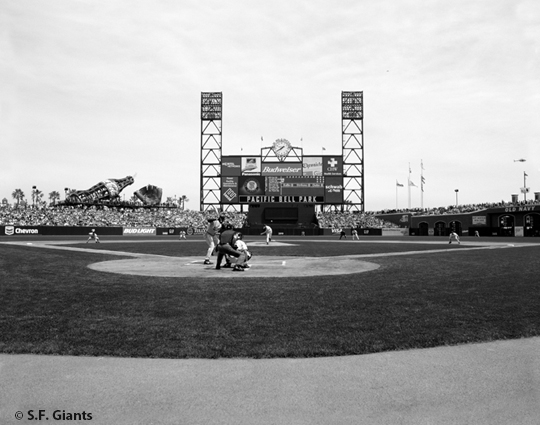 sf giants, san francisco giants, photo, 2012, timeline, view level, frist pitch, pac bell park